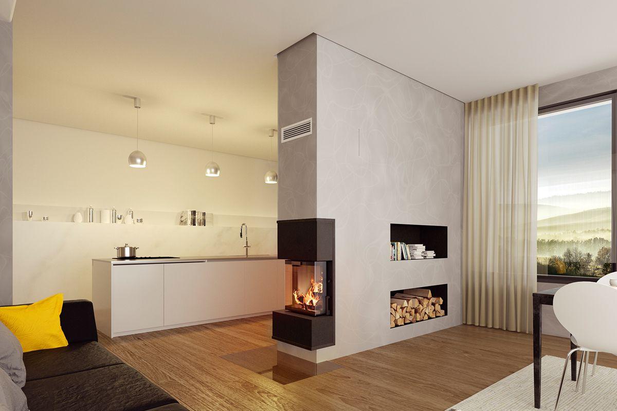 Kamin Zwischen Wohnzimmer Und Esszimmer Caseconrad Com